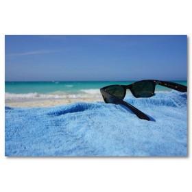 Αφίσα (γυαλιά, θάλασσα, άμμος, παραλία, ήλιος, ηλιοθεραπεία, καλοκαίρι, διακοπές)